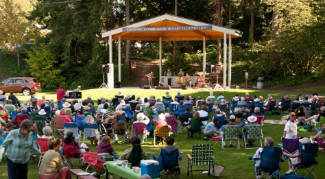 85th Street Big Band playing in Edmonds City Park Concert in the Park, Edmonds, WA