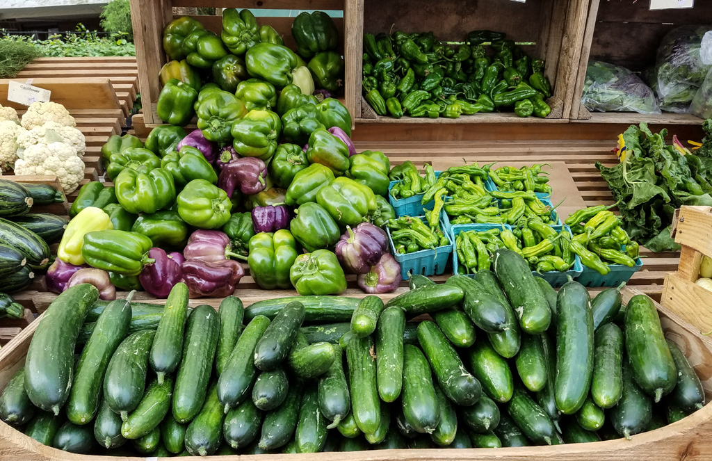 Beautiful Vegetables at the Edmonds Farmers Market