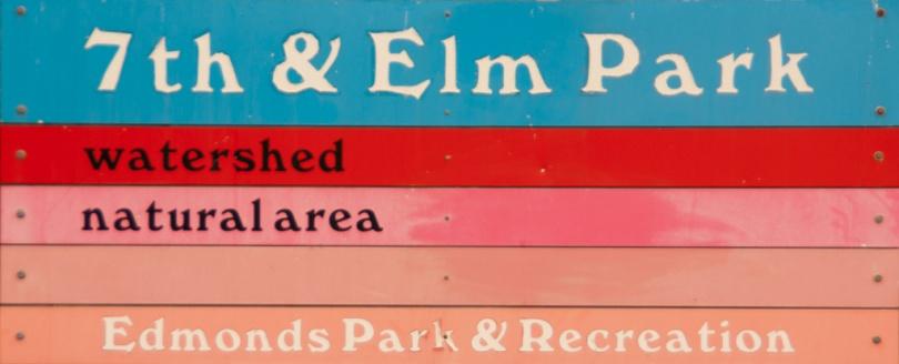 7th & Elm Park Sign, Edmonds, WA