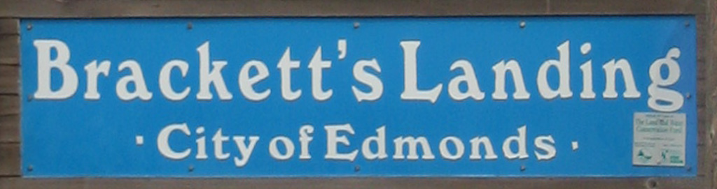 Brackett's Landing Park Entry Sign, Edmonds, WA