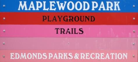 Maplewood Park Entrance Sign, Edmonds, WA