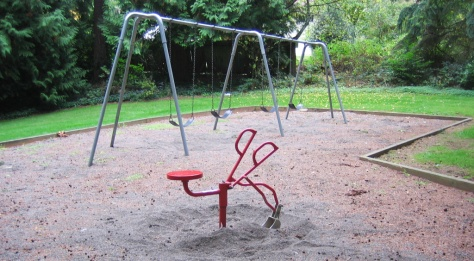 Maplewood Park Swings and Shovel, Edmonds, WA