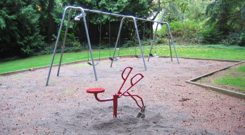 Maplewood Park Swings and Shovel, Edmonds, WA