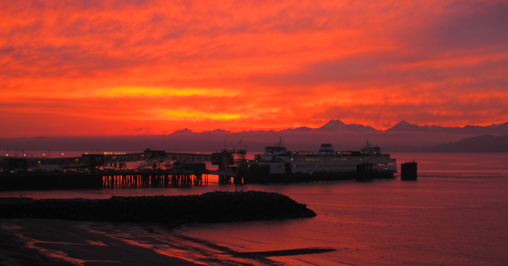 Sunset Over Brackett's Landing, Edmonds, WA
