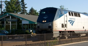 Amtrak train in Edmonds