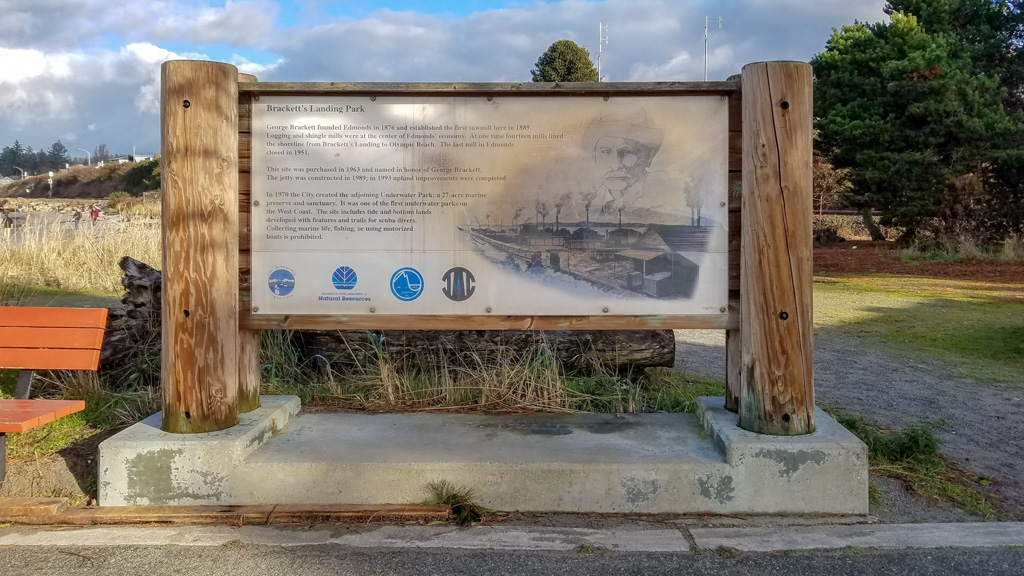 Brackett's Landing Park Information Sign, Edmonds, WA