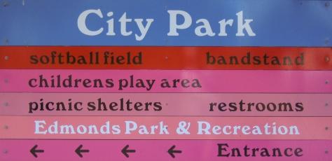City Park Entrance Sign, Edmonds, WA