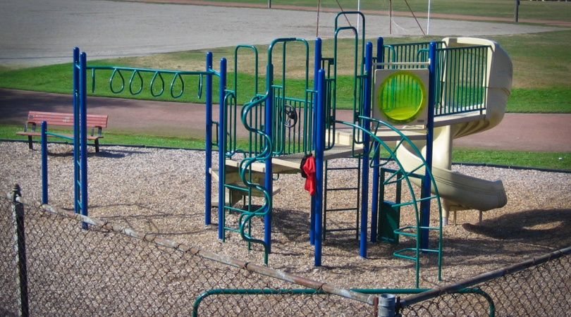 Children's play equipment at Edmonds Civic Center Playfield