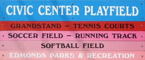 Civic Center Playfield Sign
