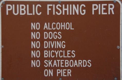 Edmonds Fishing Pier Sign