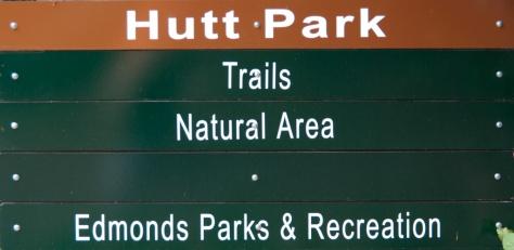 Hutt Park Entrance Sign, Edmonds, WA
