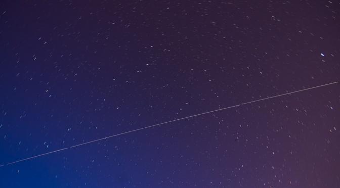 International Space Station from Edmonds, WA, Waterfront