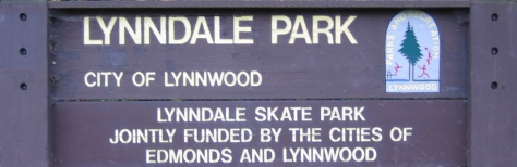 Lynndale Skate Park Entrance Sign, Lynnwood, WA