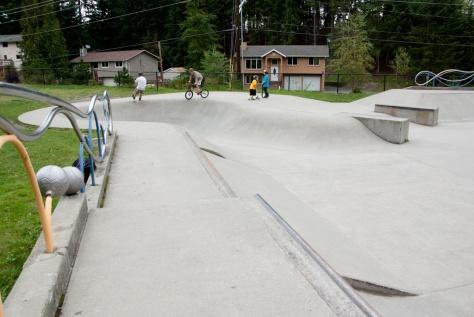 Lynndale Skate Park skateboard area