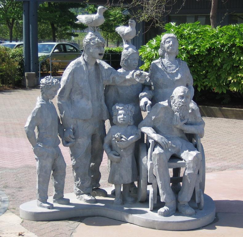 """Seeing Whales"" sculpture, Olympic Beach Park, Edmonds, WA"