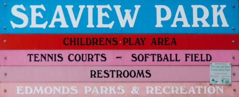 Seaview Park Entrance Sign, Edmonds, WA