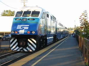 Sounder train in Edmonds, Washington