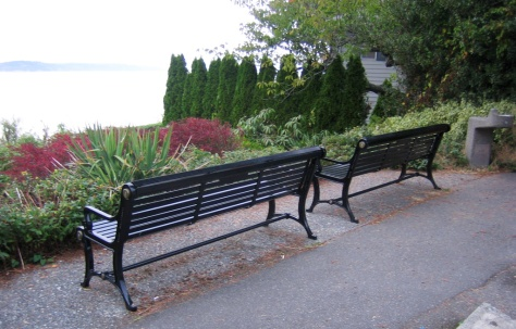 Benches at Stamm Overlook Park, Edmonds, WA