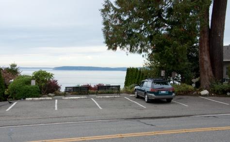 Five parking spaces at Stamm Overlook Park, Edmonds, WA